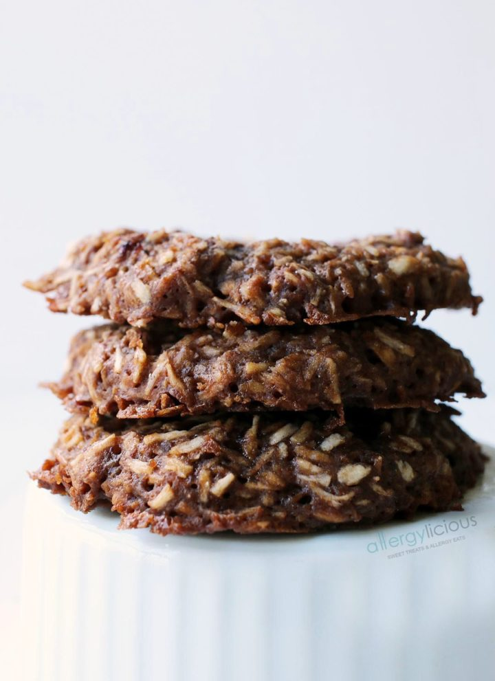 Chocolate Coconut Cookies {vegan, gluten-free}