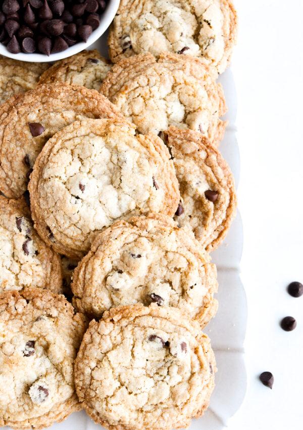 The BEST Chocolate Chip Cookies {Gluten free + Vegan}