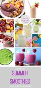 7 days & more of dairy-free, vegan & gluten-free smoothies