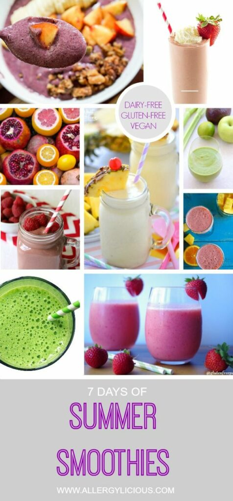 7 days & more of dairy-free, vegan & gluten-free smoothies