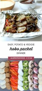 Potato Veggie & Hobo Foil Packets are easy & delicious, seasoned with herbs and grilled to perfection . This is one amazing meal that you don't want to miss out on.
