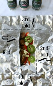 Potato & Veggie Hobo Foil Packets are easy & delicious, seasoned with herbs and grilled to perfection .