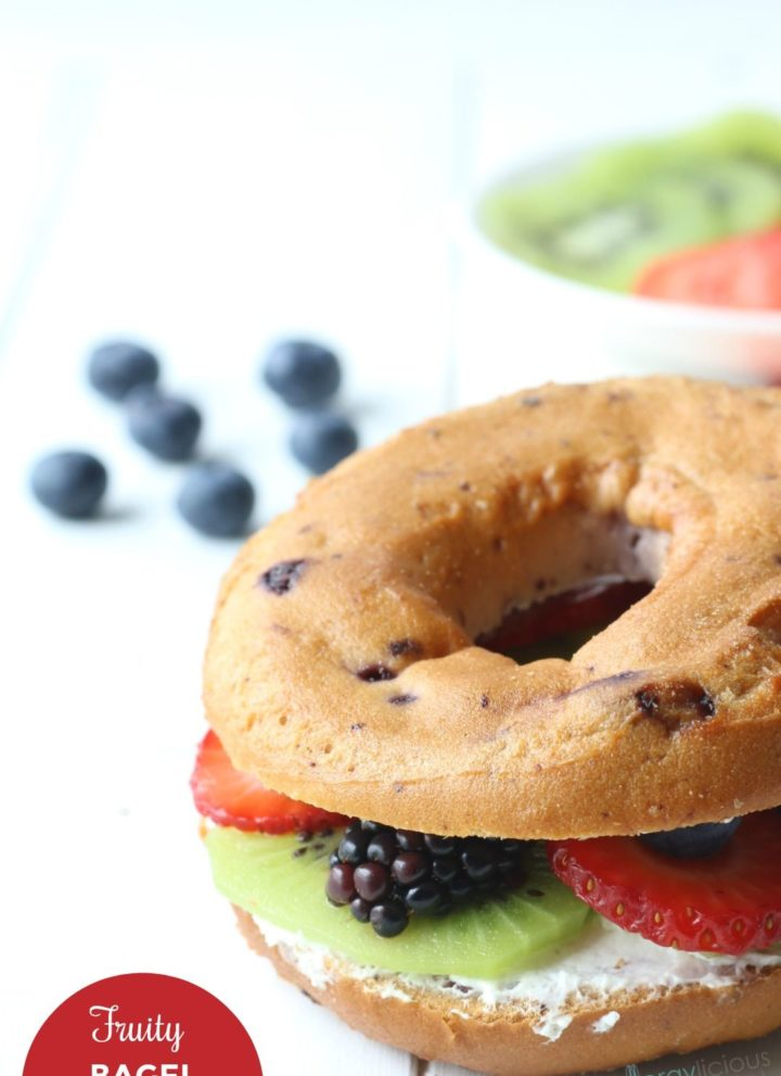 Fresh Fruit Bagel Sandwich (2 ways)