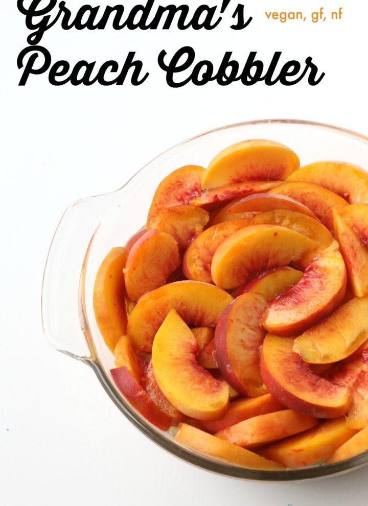 Grandma's Peach Cobbler {vegan, gluten-free, nut-free}