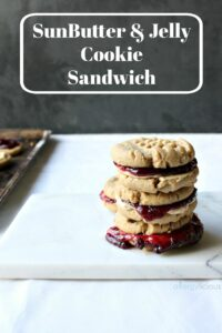 These are the best allergy-friendly, SunButter and jelly sandwich cookies you will ever make. Vegan with GF option