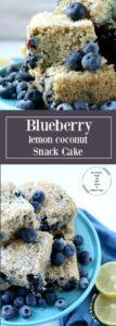 Each delightful bite of this Blueberry Lemon Coconut Snack Cake is bursting with fresh berries, lemon & sweet coconut.