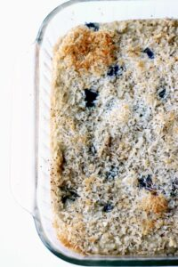 Coconut Blueberry Snack Cake