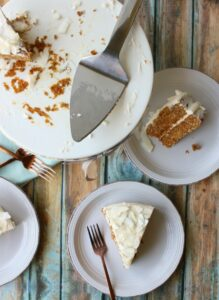 Classic carrot cake, perfectly spice & topped with delicious homemade frosting