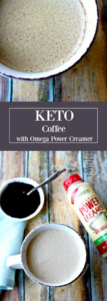 Make your own creamy keto coffee, rich in healthy fat, with Omega Power Creamer, easy to use. Without: gluten, lactose, casein, sugar and carbohydrates.