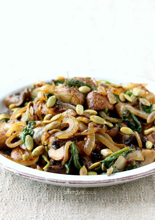 Mushroom Sauté with Caramelized Onions