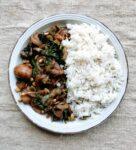 Mushroom & caramelized onion saute