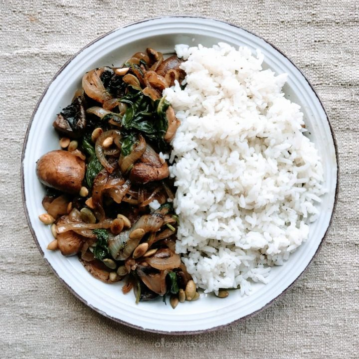 Mushroom Sauté with Caramelized Onion