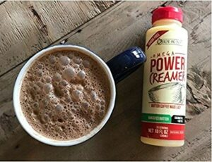 Easy Keto Coffee with Omega PowerCreamer - Made with Grass-fed Ghee, Organic Coconut Oil, 100% Coconut-Derived MCT Oil