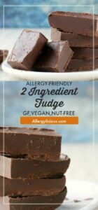 This easy chocolate fudge is smooth, creamy, and extra chocolatey. All you need is one bowl, 2 ingredients, and a microwave!
