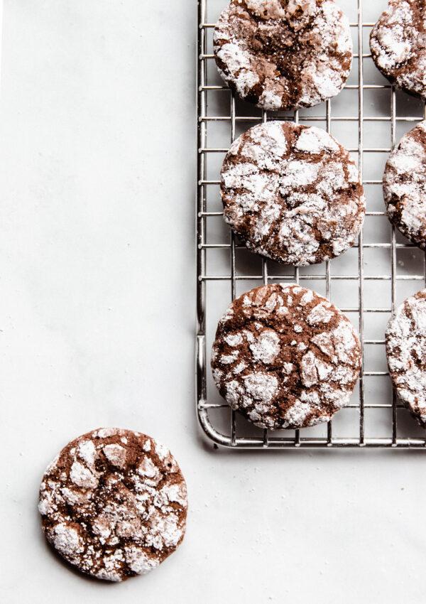 Chocolate Mint Crinkle Cookies – Vegan Gluten free
