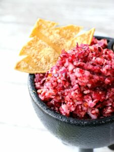 This Cranberry Salsa is a show stopper and a festive favorite