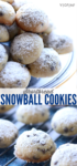 Vegan snowball shortbread cookie