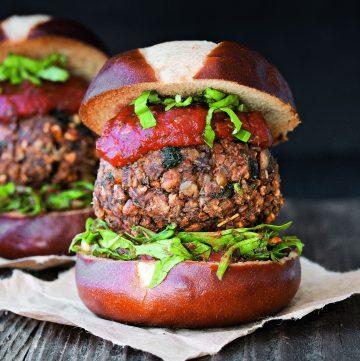 Ultimate Vegan Meatball Burger