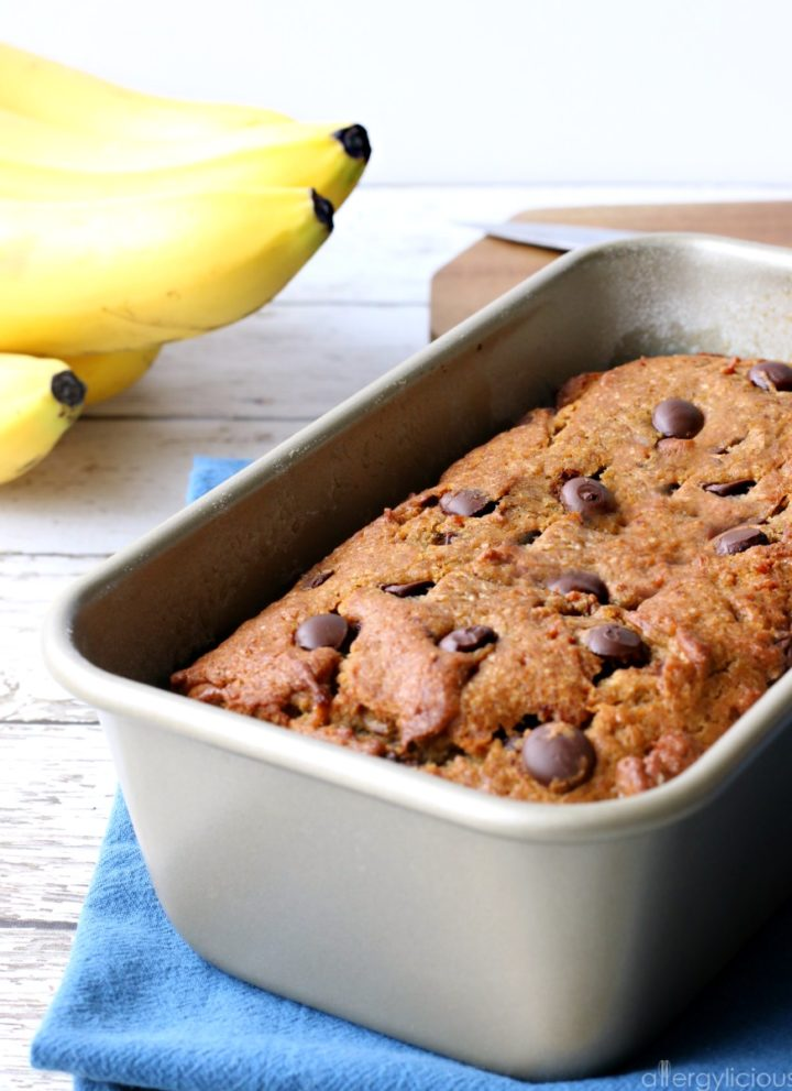 Allergy-friendly Chocolate Chip Banana Bread