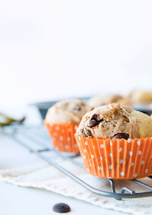 Chocolate Banana Split Muffins from Eat Dairy Free
