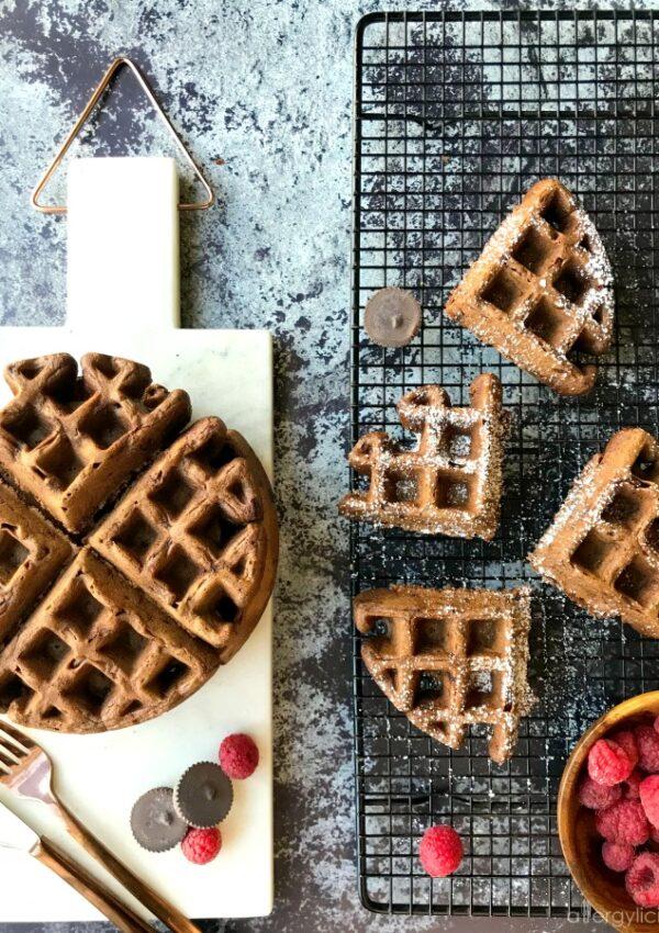 Double Chocolate Waffles {vegan + gluten free}