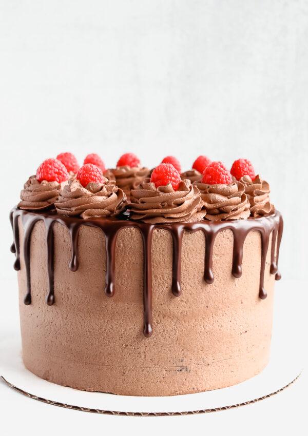 Chocolate Raspberry Cake  {Vegan and Gluten-free}
