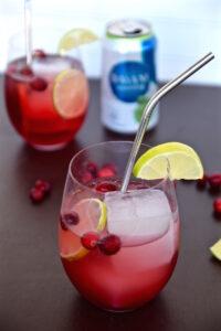 Vegan Valentine's Cranberry Sparkler