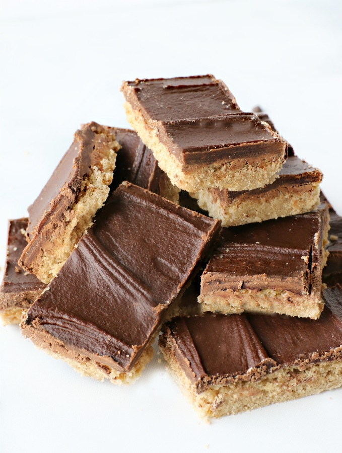 Chocolate SunButter Bars - decadent, easy to make, vegan and gluten free recipe