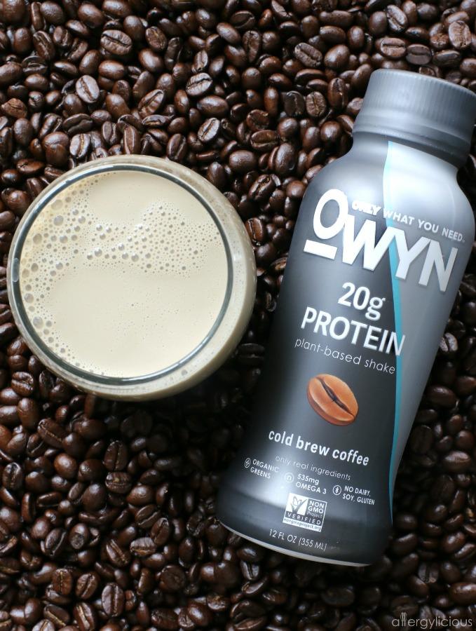 OWYN Cold Brew Coffee:  Plant-Based Allergy-friendly Protein Drink
