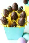 Vegan chocolate cookie dough eggs