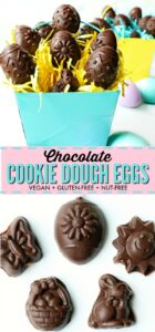 The best vegan, gluten-free chocolate cookie dough easter eggs