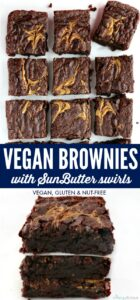 pinterest long pin for vegan brownies