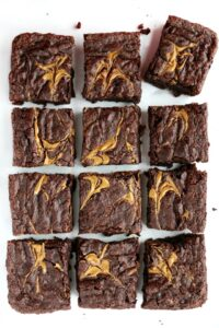 vegan chocolate brownies cut out
