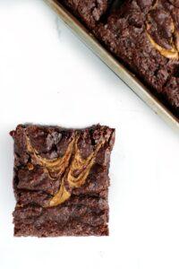 chewy vegan brownies with swirls