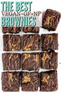 chewy vegan chocolate brownies