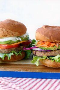 2 grillable veggie burgers