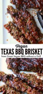 Vegan BBQ brisket for pinterest