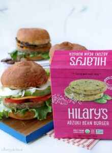 Hilary's grillable veggie burger