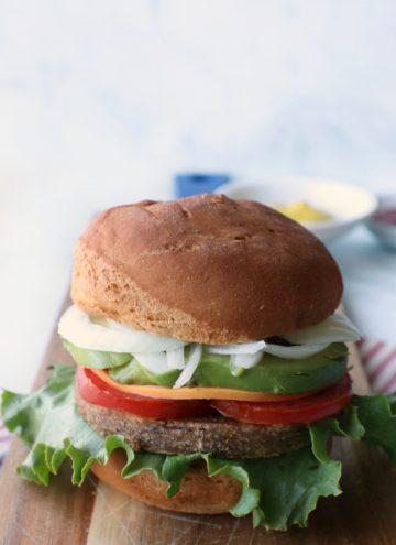 California grillable veggie burger