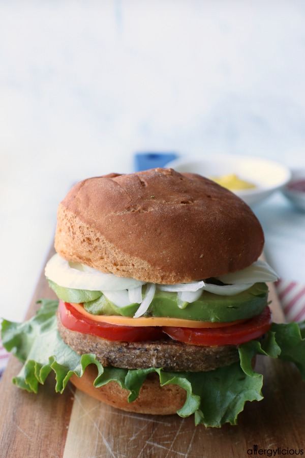 California grillable veggie burger
