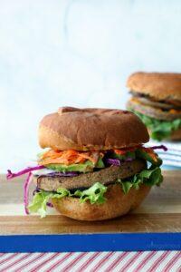 Slaw grillable veggie burger