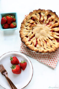 Fresh baked strawberry pie