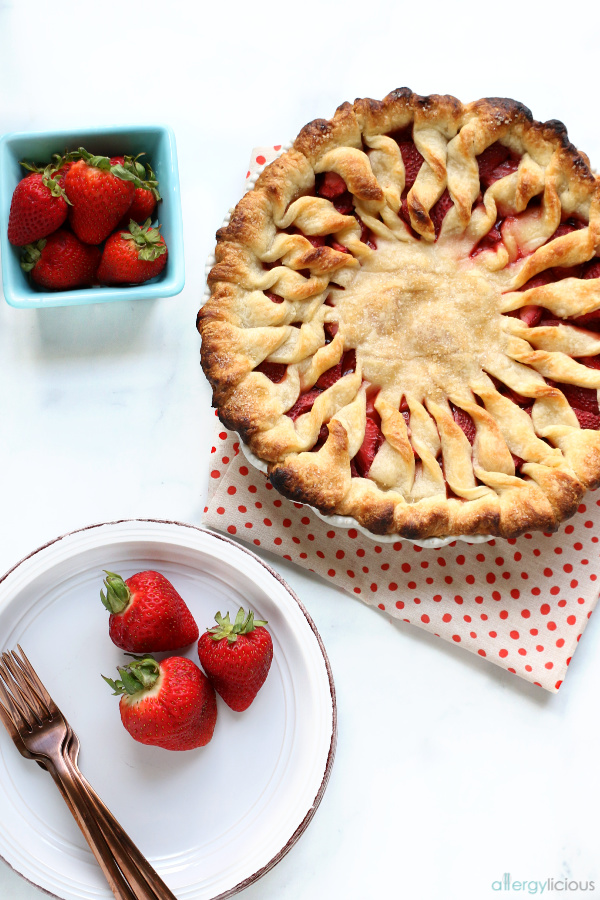 Fresh baked strawberry pie