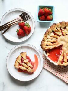 Fresh Strawberry Pie from Scratch (vegan, gluten-free, nut-free)