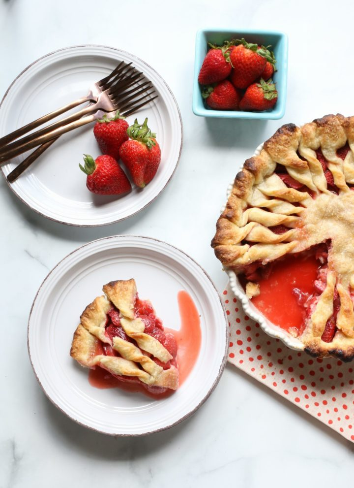 Fresh Strawberry Pie from Scratch (vegan, gluten-free, nut-free)