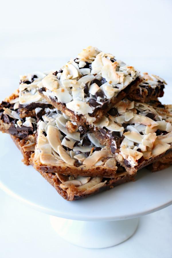 magic cookie bars served