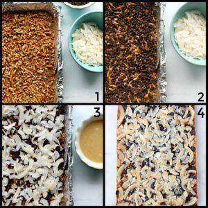 4 steps to make magic cookie bars