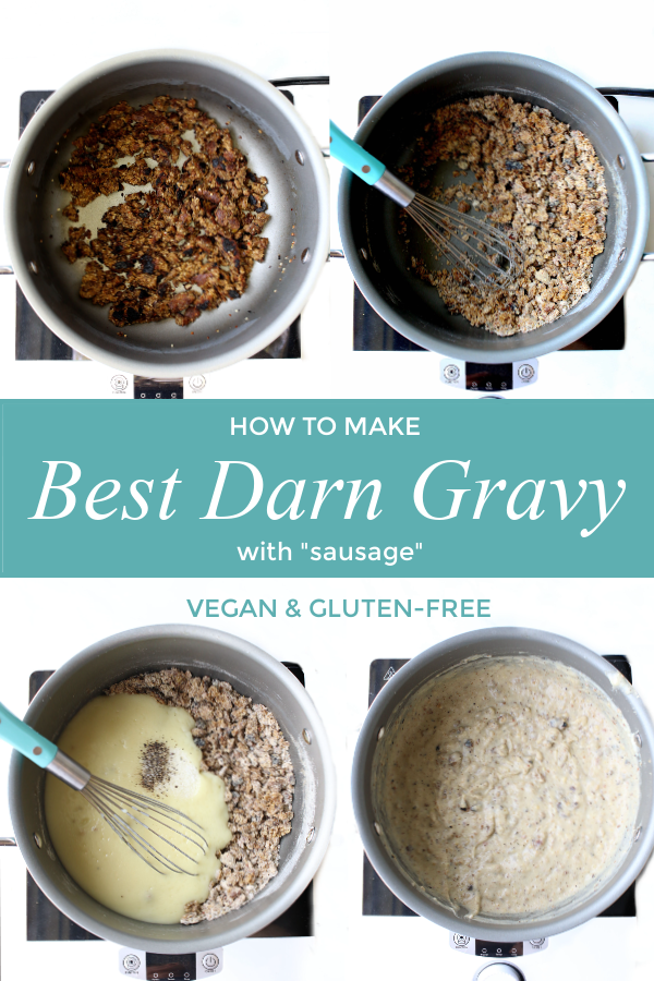 how to make steps for dairy-free biscuits and gravy