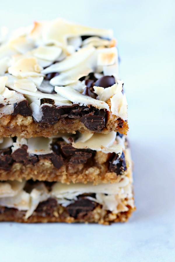 Magic Cookie Bars (vegan, allergy-friendly)+VIDEO