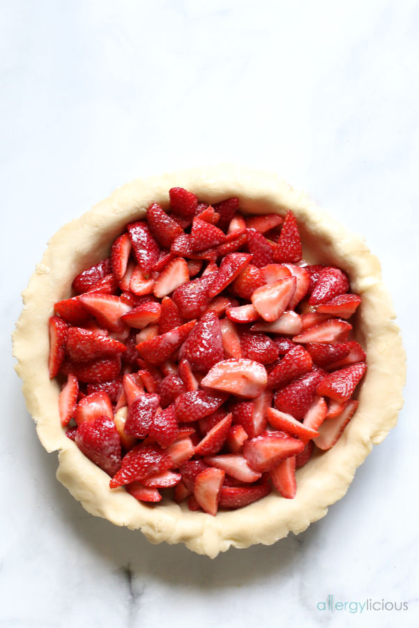 Fresh Strawberry Pie From Scratch Vegan Gluten Free Nut Free Allergylicious